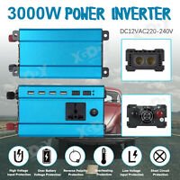 Inversor Convertidor 3000W 12V a 220V Power Inverter Onda sinusoidal modificada