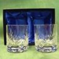 Pair of  Cut Crystal Whisky Glasses in a Presentation Box...