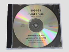 1980-89 Ford F600-900 Hd Truck Master Parts Text & Illustrations Catalog Cd