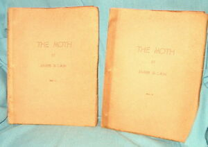 INSCRIBED by author James M. Cain THE MOTH 1948 1/20 author copies 2 vol set