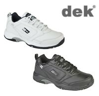 Mens Lace Up Leather Trainers - Black White Size 3 4 5 6 7 8 9 10 11 12 13 14 15