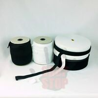 "Knitted Elastic White Black 1"" 3/4"" 1/2"" 3/8"" 1/4"" 50 100 144 yards waistband"