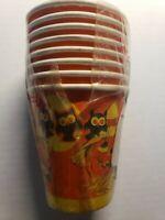 Vintage Halloween Paper Cups with handles Owls Pumpkins Orange Yellow NOS