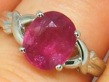 18k Gold 18ct gold 2.00ct Ruby Engagement ring size N Hallmarked