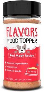 Flavors Dog Food Topper Red Meat Recipe 1- 3.1oz (88g) Shaker Bottle