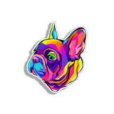Colorful Frenchie Sticker French Bulldog Dog Cup Car Vehicle Window Bumper Decal