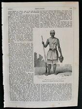 1862 Druck 105 Dahome Amazone des Königs