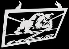 "cache / Grille de radiateur  inox poli Kawasaki Z750 07>12 design ""Bulldog"""