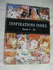 INSPIRATIONS Embroidery magazine Project INDEX ISSUES 1-24 Country Bumpkin book