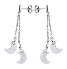 Silbermond Ohrhänger Silber 925 Ohrstecker - lange Silberohrhänger Mond Ohrringe