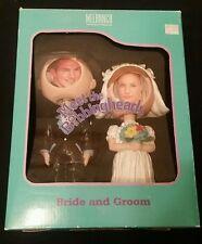 Meet the Bobblingheads Bride Groom Bobble Head Photo Frame Wedding Gift