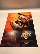 "Super Troopers 2 Signed Movie Poster 13"" x 18"" Broken Lizard Signatures"