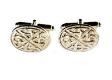 Vintage STERLING Silver CELTIC KNOT Cufflinks - GIFT BOXED