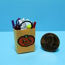 Dollhouse Miniature Halloween Trick or Treat Bag Filled with Goodies ~ SH503