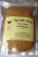 BEE POLLEN - 1 lb - 100% Pure Natural  Rye Belle Honey