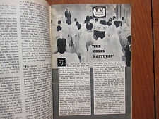 March, 1959 TV Guide(THE GREEN  PASTURES/THE THREE STOOGES/MARGARET MEAD/LISA LU