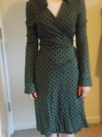 Diane Von Furstenburg DVF vintage wrap dress long sleeves Jeanne Two  10 6 UK US