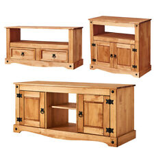 Corona TV Stand Cabinet TV Media DVD Unit Solid Pine Wood Mexican Furniture New