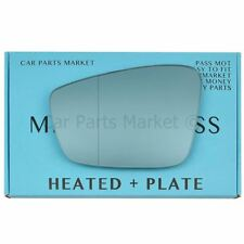 For Skoda Citigo 12-17 left Passenger Flat Electric Wing Mirror Glass With Plate