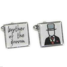 Ceramic Brother of the Groom Cufflinks