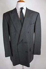 "Ermenegildo Zegna Suit 48L (40x33) Gray Double Breasted ""Soft"" Wool"