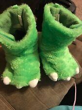 Boy'S Toddler Carter'S Green Monster Slippers Size Large 9/10