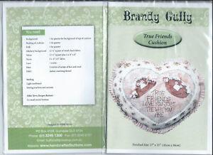 "BRANDY GULLY Pattern "" True Friends Cushion ""  Finished size 43cm x  38cm"