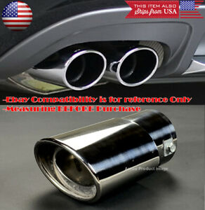 "OE Polished Stainless Steel Exhaust Muffler Tip For Nissan Infiniti 1.5-2"" Pipe"