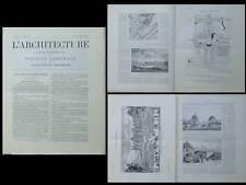 L'ARCHITECTURE N°34 1904 - CHATEAU MAISONS LAFFITTE