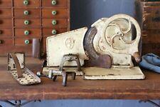 Antique Cast Iron Hand Crank Meat Slicer Vintage General Deli Butcher Shop Tool