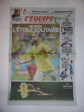 L'EQUIPE 24 JUIN 2014 WORLD CUP / CAMEROUN - BRESIL 1-4 NEYMAR ETOILE SOLITAIRE