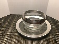 Vintage Dorothy Thorpe plate and bowl sterling silver on crystal