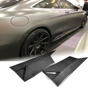 Carbon Fiber Side Skirts Splitter Fit For Mercedes C217 S500 S550 S63 S65 15-17