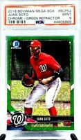 2018 Bowman Mega Box Chrome Green Refractor /99 JUAN SOTO RC PSA 9 MINT/ POP 25