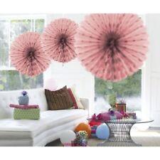 Ventilatore A Nido D'Ape Decorazione per Soggiorno 45cm Baby ROSA carta Confezione da 3
