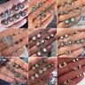 6Pairs/set Women Rhinestone Crystal Opal Ear Stud Lotus Earrings Set Jewelry