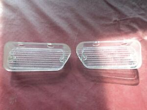 Nos 1974 Plymouth Satellite Turn Park Light Lamp Clear Lens Left Right Pair