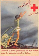 """0261) CROCE ROSSA COMITATO SALERNO (COPERTO CON TIMBRO """"MODENA"""") """"AIUTIAMO..."""""""