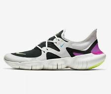 NEW Nike Free Run 5.0 Mens AQ1289-100 WHITE/VOLT GLOW-BLACK SIZE UK 9.5