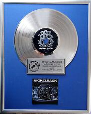 "Nickelback - Dark Horse CD/Cover gerahmt +12"" Deko goldene Vinyl Schallplatte"