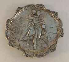 """German? 800 Sterling Silver Fancy Figural Footed Tray-4 7/8"""""""