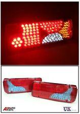 PAIR 24V LED REAR TAIL LIGHTS LAMP 6 FUNCTION TRAILER CARAVAN TRUCK LORRY 84 LED