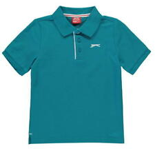 BOYS SLAZENGER SHORT SLEEVES POLO SHIRT TOP (VARIOUS COLOURS & SIZES) BRAND NEW
