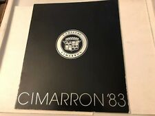 CADILLAC Cimarron Official Sales BROCHURE Rare - 1983!