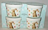 Ciroa Easter Parade Set of Four Quality Porcelain Ramekins Bunny Rabbit New