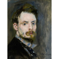 Pierre Auguste Renoir Self Portrait C1875 Painting Canvas Wall Art Print Poster
