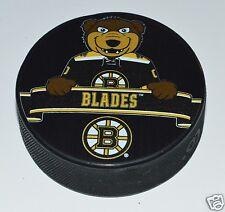 Boston Bruins Mascot Blades Bear Team Logo SOUVENIR HOCKEY PUCK NHL NEW
