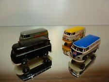 BREKINA LOT of 4x VW VOLKSWAGEN T1 BUS - PEPSI SINALCO TAXI - 1:87 - GOOD