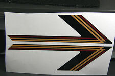 Reproduction 1987 VMax 540 Vintage Snowmobile Ski Stickers.