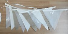 Handmade Bunting. 10 flags. Crimped edges. Natural colours.